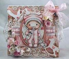 CHA 2015 New Release Showcase - Day 4! Card by Linda Levoir featuring Baby Marci and these Dies - Small Lacy Border, Heart Fan, Stork, Rocking Horse, Open Heart Doily Border, Large Lacy Border :-)  Shop for our NEW products here - http://shop.lalalandcrafts.com/NEW_c16.htm   More Design Team inspiration here - http://lalalandcrafts.blogspot.ie/2015/01/cha-2015-new-release-showcase-day-4.html