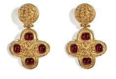 vintage Chanel jewels | Chanel Vintage Jewelry - '94 Roman Gripoix Earclips | via stylebop.com