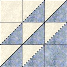 I absolutely love to start with a basic quilt block, fracture it into smaller pieces and then either make it scrappy, watercolor or gradien. Triangle Quilt Pattern, Half Square Triangle Quilts, Square Quilt, Patchwork Patterns, Quilt Block Patterns, Quilt Blocks, Quilting Tips, Quilting Tutorials, Mini Quilts