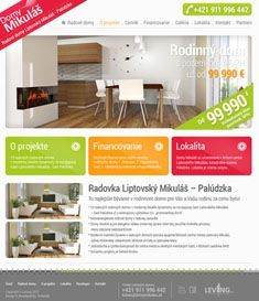 Family Houses Project webdesign by Artlandia