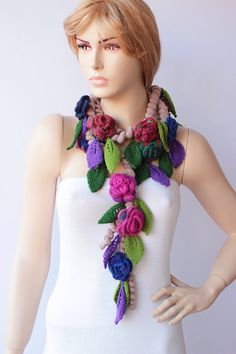 Hey, I found this really awesome Etsy listing at https://www.etsy.com/listing/165580256/crochet-scarf-crochet-lariat-flower