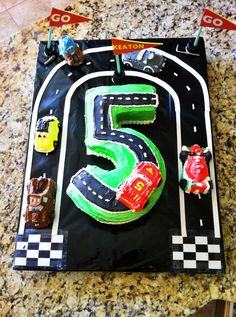 Cars Themed Birthday Cake from Kman's 5th!!