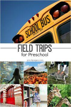 Preschool Field Trip Ideas. Fun field trip ideas for preschool and kindergarten kids. Teacher tips for planning and preparing for your field trip too!