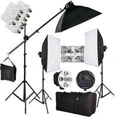 BPS Continuous Lighting Softbox Kit 5 Socket Light Heads 15 x Lamps Pro Photo Studio Light Box 15 x Light Bulb with Free Carry Bag - UK Plug Flash Studio, Box Studio, Studio Lighting Setups, Photo Studio Lighting, Continuous Lighting, Home Studio Photography, Bags Uk, Kit, Photography Equipment