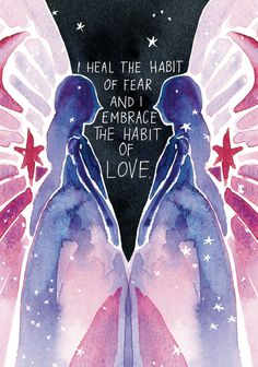 Super Attractor by Gabrielle Bernstein ~ I heal the habit of fear and I embrace the habit of Love 😇 Spiritual Awakening, Spiritual Quotes, Positive Vibes, Positive Quotes, Gabrielle Bernstein, Affirmations Positives, Affirmation Cards, Happy Words, Pretty Words