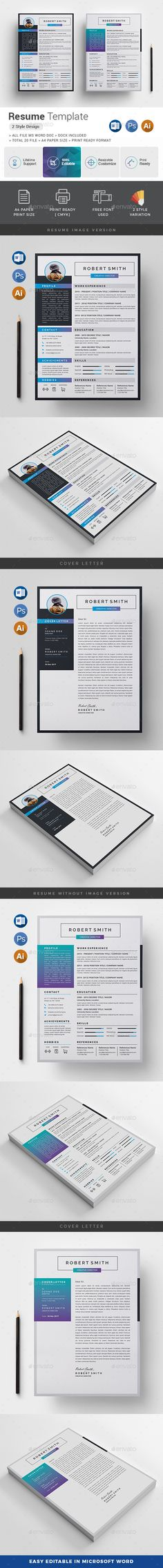Resume Template, Microsoft word and Modern resume template - resume paper size