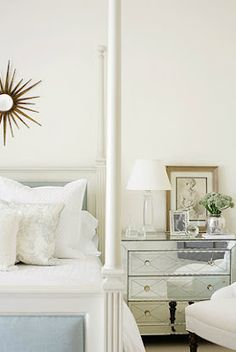 White four poster bed.  Lovely. Image by Mali Azima.
