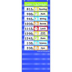 For use with your Scholastic Daily Schedule Pocket Chart 24 blank schedule cards