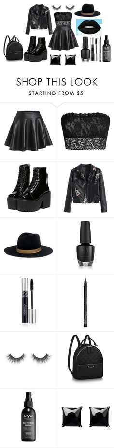 """Cleo"" by afia-asamoah ❤ liked on Polyvore featuring Hanky Panky, Janessa Leone, Christian Dior, NYX and Witchery"