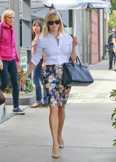 Because I love Reese and my J Crew Floral Skirt.