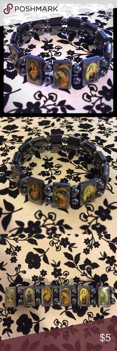 "Madonna Gray Stretch Bracelet Madonna Gray Stretch Bracelet. Inside diameter unstretched =2.5"".  ✅Offers Welcome w/Offer Button Trade PP ✅20%OffBundle ✅Ships1Day. Jewelry Bracelets"