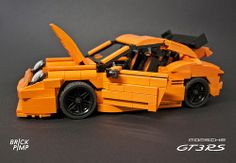 LEGO PORSCHE 911 Carrera GT3 RS (orange custom car)LEGO PORSCHE 911 Carrera GT3 (orange custom car)