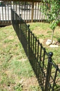 I needed to find a way to keep my dogs from digging into my newly planted apple trees. I decided a metal fence I bought from Lowes was perfect for the job. This is how I installed it.