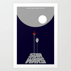 Star Wars- A New Hope II Art Print by IIIIHiveIIII - $16.00
