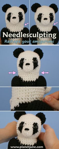 Tutorial: use needlesculpting to improve/modify the shape of your amigurumi, using only a yarn needle and length of matching yarn.