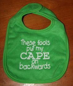 These fools put my CAPE on backwards. $6.00, via Etsy.