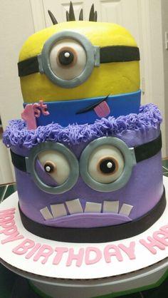 Minion cake, half spiderman half batman | My cakes ...