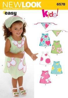 NL6578 Toddler Dress   Easy