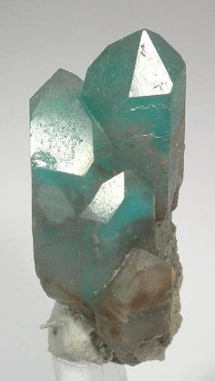 Intense blue/green coloring Ajoite is a rare stone from the mines in South Africa. It is a strengthener, healer and harmonizer of the emotional body. It has very sweet vibrations not only to soothe us; they also draw out the poison of one's subconsciously held sorrows, fears and rage.