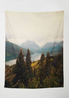 Peaks Your Interest Tapestry. Keep the wonders of the wilderness close to home with this majestic tapestry by Catherine Mcdonald for DENY! #multi #modcloth