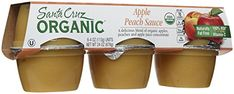 Santa Cruz Organic Apple Peach Sauce Cups  4 oz  6 ct ** Click image to review more details. (This is an affiliate link) #Fruitsaucecups
