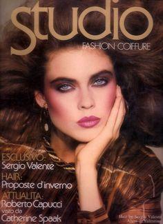 Full-on 80s glamour. Carol Alt