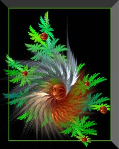 Fractal Christmas Card Design? #Fractals