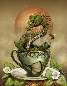Tea Digital Art - Tea Dragon by Stanley Morrison