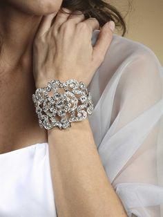 Crystal Cuff wedding bracelet
