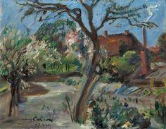 """Lovis Corinth (Tapiau/Ostpreußen 1858 – 1925 Zandvoort) """"Landschaft im Vorfrühling"""". 1922 Ö"""
