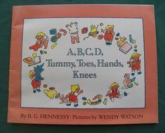 $2.00 - A, B, C, D, Tummy, Toes, Hands, Knees 1992 PB (11316-2182) children books