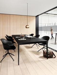Office modern conference room design modern black big table torino adelaide chair wooden floor BoConcept Trójmiasto #bctrojmiasto