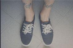 Keep Pushing #tattoo #skate #skateboarding #ink #vans #shoes #tattoos