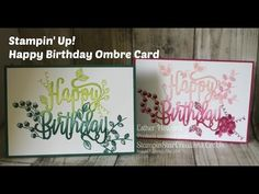 How to get an ombre effect on a die. Using product from NEW 2017 catalogue Happy Birthday Gorgeous Stamps Happy Birthday Die Available from my shop on 1st Ju...