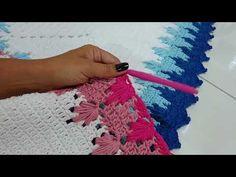 Edge for Afgan Wiggly Crochet, Crochet Cord, Crochet Stitches, Crochet Doilies, Crochet Flowers, Crochet Lace, Crochet Bedspread Pattern, Crochet Patterns, Crochet Table Runner