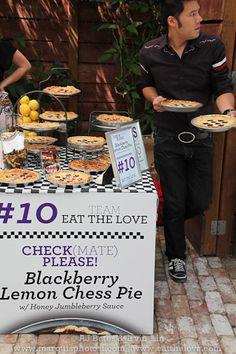 Blackberry lemon chess pie