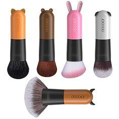 Docolor Makeup Brushes Cartoon Face Kabuki Premium Synthetic Goat Hairs Makeup Brushes Set on Amazing Makeup 532 Kabuki Brush Set, Makeup Brush Set, Sonia Kashuk Brushes, Brush Type, Japanese Makeup, Cartoon Faces, Spring Makeup, No Foundation Makeup, Best Makeup Products