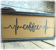 What a great gift for any coffee lover and a wonderful addition to your coffee themed kitchen decor. This beautiful framed, rustic sign is handcrafted, hand pai