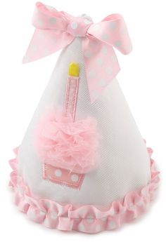 Mud Pie Baby-girls Newborn Cupcake Birthday Hat, (mud pie, 1st birthday, mud pie bib, mud pie birthday, bakery crafts, party supplies)