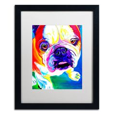 'Stanley' by DawgArt Framed Painting Print
