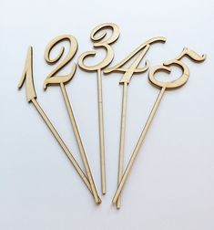 These unfinished wood laser cut table numbers are a perfect addition to centerpieces for your wedding or event! Each number is cut from 1/4