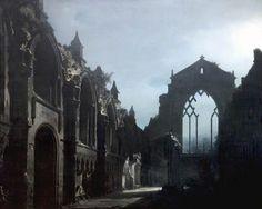 Louis-Jacques-Mandé Daguerre - The Ruins of Holyrood Chapel