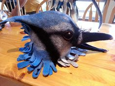 Bird Mask ws with Gladys Paulus participants finished mask