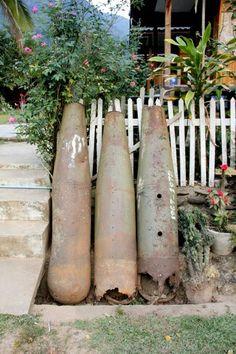 Bomb ordinance from Vietnam War in Laos. Laos' Idyllic River Towns @HoneyTrek @Outbounding
