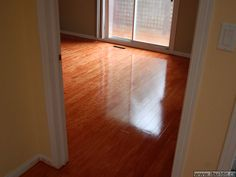 DIY Plywood Flooring...looks like real hardwood floors except its cheap!