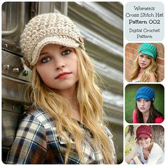 Ravelry: Women's Cross Stitch Hat/Pattern 002 pattern by Simply Made By Erin