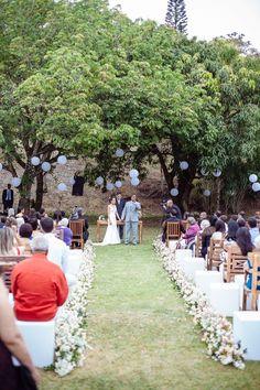 Casamento ao ar livre Raquel e Gabriel