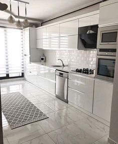 The Best 26 All White Kitchen Design Ideas modern all white kitchen with metro tiles Kitchen Pantry Design, Luxury Kitchen Design, Home Decor Kitchen, Interior Design Kitchen, Kitchen Ideas, Kitchen Layout Plans, Buy Kitchen, Kitchen Organization, Kitchen Tools