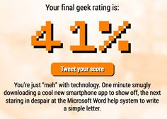 How Geeky Are You? - Neatorama