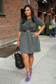 "Mindy Kaling- Love her!!! And she's a NORMAL size, not some ""I have to be skinny"" actress!"